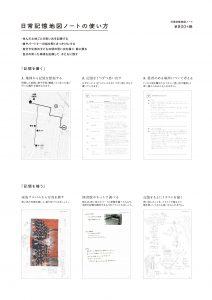 日常記憶地図ノートのチラシ